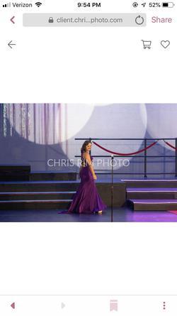 Purple Size 10 Train Dress on Queenly