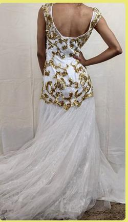 Sherri Hill White Size 0 Gold Pageant Short Height Mermaid Dress on Queenly
