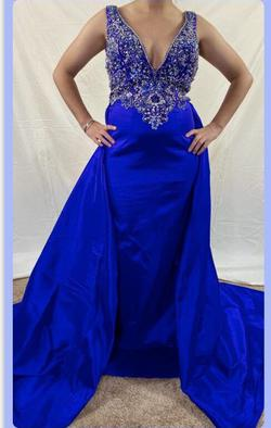 Mac Duggal Purple Size 4 Short Height Train Dress on Queenly