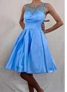 Sherri Hill Blue Size 0 Short Height Cocktail Dress on Queenly