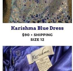 Karishma Blue Size 12 Short Height Plus Size Cocktail Dress on Queenly