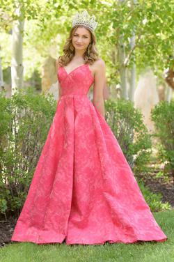 Sherri Hill Pink Size 4 Train Tall Height Ball gown on Queenly
