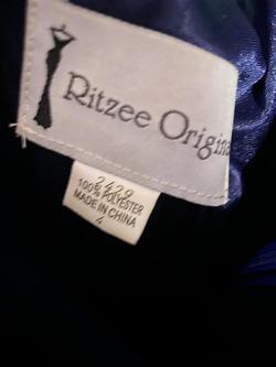 Ritzee Original Blue Size 4 Straight Dress on Queenly