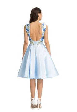Chi Chi London Blue Size 6 Backless Cocktail Dress on Queenly