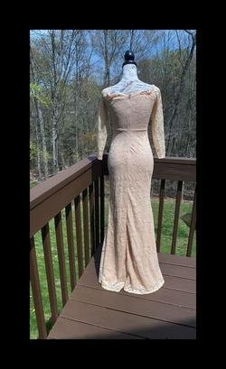 Windsor Nude Size 4 Long Sleeve Lace Sleeves Straight Dress on Queenly