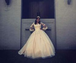Nude Size 16 Ball gown on Queenly