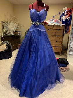 Mac Duggal Royal Blue Size 4 Ball gown on Queenly
