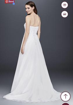 Davids Bridal White Size 14 Wedding Corset A-line Dress on Queenly