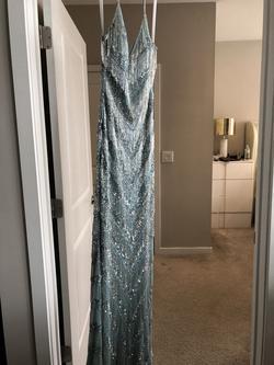Primavera Blue Size 4 Mermaid Dress on Queenly