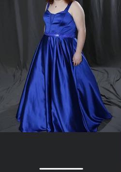 Rachel Allan Blue Size 20 Ball gown on Queenly
