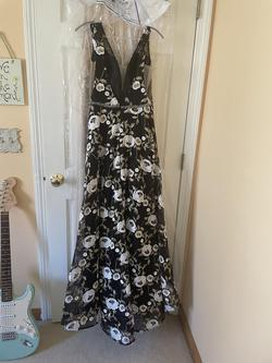 Jovani Black Size 8 Short Height Ball gown on Queenly