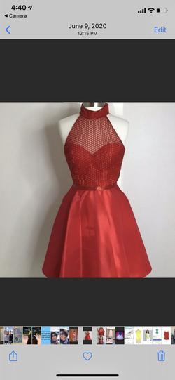 Sherri Hill Red Size 4 Silk Graduation Cocktail Dress on Queenly