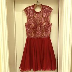 Sherri Hill Multicolor Size 14 Tulle Pink Cocktail Dress on Queenly