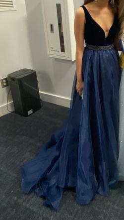 Sherri Hill Blue Size 2 Navy Ball gown on Queenly