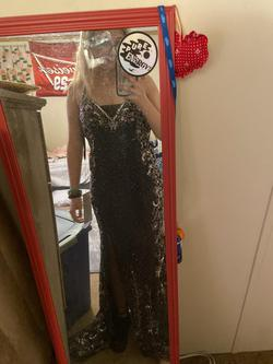 Primavera Black Size 0 Prom Sheer Straight Dress on Queenly