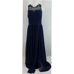 City Studio Blue Size 14 Plus Size A-line Dress on Queenly