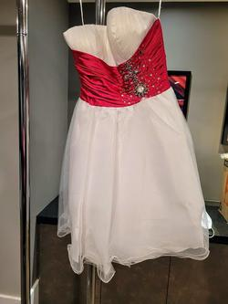 Style A187 Aspeed USA White Size 8 Tall Height Homecoming Cocktail Dress on Queenly