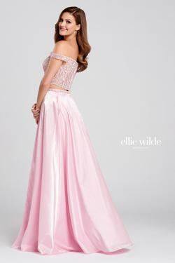 Style EW120134 Ellie Wilde Pink Size 8 Side slit Dress on Queenly