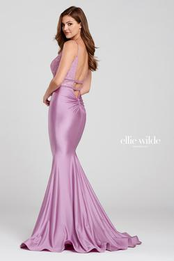 Style EW120117 Ellie Wilde Purple Size 4 Silk Lavender Mermaid Dress on Queenly