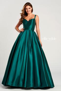 Style EW120023 Ellie Wilde Green Size 24 Tall Height Ball gown on Queenly