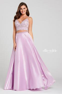 Style EW120120 Ellie Wilde Purple Size 16 Lavender Plus Size Backless A-line Dress on Queenly
