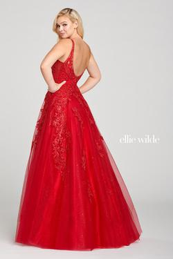 Style EW121003 Ellie Wilde Red Size 6 Prom Ball gown on Queenly