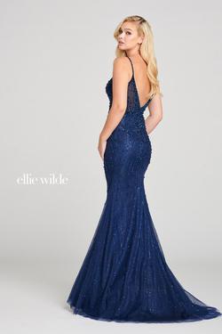 Style EW121006 Ellie Wilde Blue Size 2 Navy Mermaid Dress on Queenly