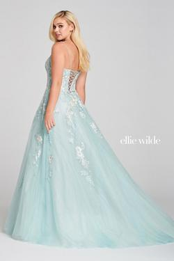 Style EW121027 Ellie Wilde Blue Size 4 Tall Height Prom Ball gown on Queenly