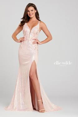 Style EW120050 Ellie Wilde Pink Size 6 Tall Height Side slit Dress on Queenly