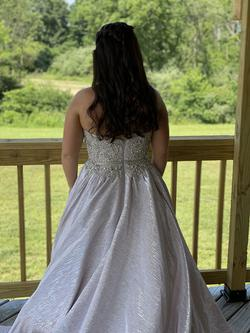 Silver Size 6 Ball gown on Queenly
