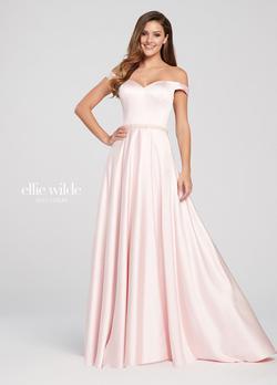 Style EW119053 Ellie Wilde Pink Size 6 Side slit Dress on Queenly