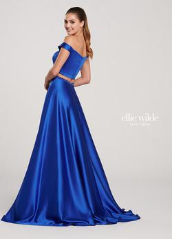 Style EW119053 Ellie Wilde Royal Blue Size 24 Side slit Dress on Queenly