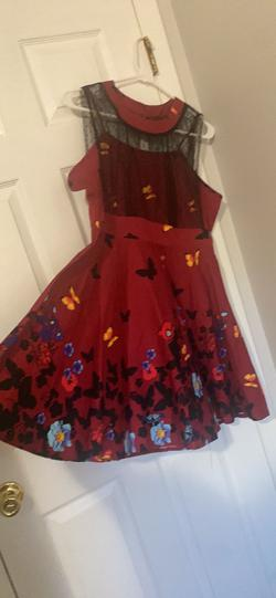 Multicolor Size 16 A-line Dress on Queenly
