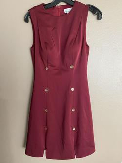 Mac Duggal Red Size 4 Gold Cocktail Dress on Queenly