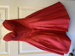 Sherri Hill Red Size 0 Sorority Formal Silk Wedding Guest Cocktail Dress on Queenly