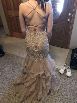 Sherri Hill Gold Size 2 Mermaid Dress on Queenly