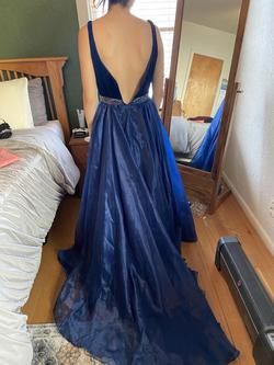 Sherri Hill Blue Size 2 Side slit Dress on Queenly