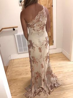 stunner boutique Nude Size 4 Straight Dress on Queenly