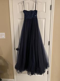Cecily Brown Blue Size 2 Ball gown on Queenly