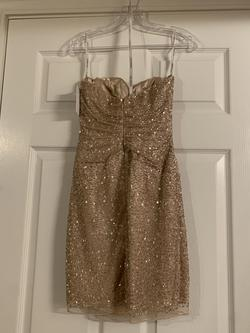 Sherri Hill Gold Size 2 Graduation Sorority Formal Cocktail Dress on Queenly