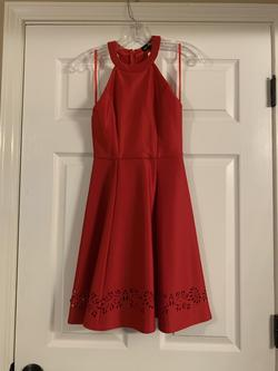Sequin Hearts Red Size 2 Sorority Formal Cocktail Dress on Queenly