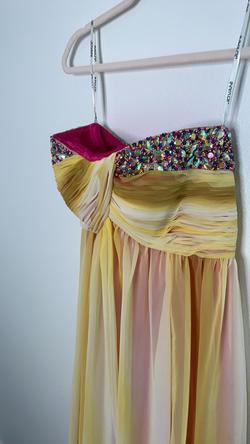 Jovani Multicolor Size 2 Silk Pink Ball gown on Queenly