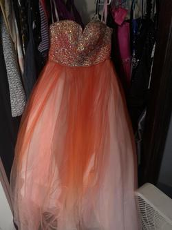 Orange Size 10 Ball gown on Queenly