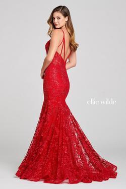Style EW121004 Ellie Wilde Red Size 8 Mermaid Dress on Queenly
