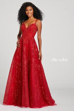 Style EW121034 Ellie Wilde Red Size 4 Sweetheart A-line Dress on Queenly