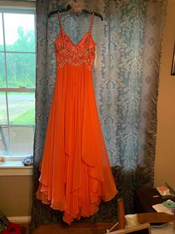 Sherri Hill Multicolor Size 6 Coral A-line Dress on Queenly