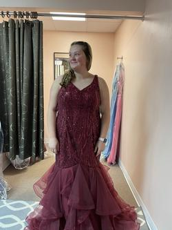 Red Size 18 A-line Dress on Queenly