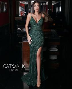 CatWalk Couture Green Size 6 Tall Height Mermaid Dress on Queenly