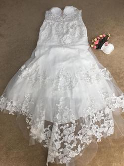 D&V White Size 22 Plus Size Mermaid Dress on Queenly