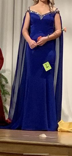 Custom Blue Size 6 Train Dress on Queenly